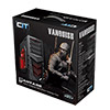 CiT Vanquish Gaming Case USB3 Toolless Side Window 2 x 12cm Red LED Fans Retail - Alternative image