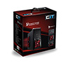 CiT Vantage Type-R Midi Mesh Gaming Case Black Interior 4 Fans (3 Red LED) Card Reader No PSU - Alternative image