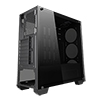 CiT Vision RC Mid-Tower Black Gaming Case Tempered Glass Front and Side Panels - Alternative image