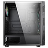 CiT Volcano ATX Case 4x ARGB Fans TG Side Panel EPE - Alternative image