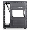 CiT Voyager Black MATX Tempered Glass Case 1 x 12cm Blue LED Fan at Rear - Alternative image