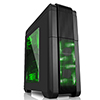 View more info on Fierce PC Nebula Gaming PC Case Green LED Fans...