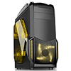 View more info on Fierce PC Sand Storm Gaming PC Case Yellow LED Fans...