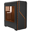 Fierce PC Aurora Black Case with RGB Colour Front - Alternative image