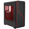 View more info on Fierce PC Aurora Black Case with RGB Colour Front...