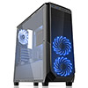 View more info on Fierce PC Expanse Black Case with 2 x Blue 15 Led Front Fans...