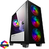 View more info on GameMax Aero Mini ARGB Case 4 x ARGB Fans Black With White Internals...