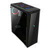 Game Max Aurora RGB Midi Tempered Glass Gaming Case - Alternative image