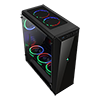 Game Max Aurora RGB Mid-Tower Tempered Glass Gaming Case - Alternative image