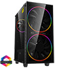 View more info on GameMax Black Hole ARGB Gaming Case 2x 20cm + 1x 12cm ARGB Fans 1x ARGB Hub...