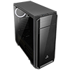 Game Max Carbon Midi Gaming Case Full Acrylic Side Window - Alternative image