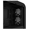 GameMax Centauri Black Grey MATX Gaming Case 1 x 15 Blue LED Rear Fan Side Window  - Alternative image