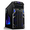 Game Max Centurion Gaming Case with Front & Rear Blue LED Fans 1x USB3 - Alternative image