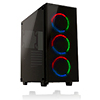 View more info on Game Max Cobalt RGB Mid-Tower ATX 2 x USB3 Tempered Glass Sides and Front ...