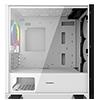 GameMax Commando MATX White 1x Side Window 1 x ARGB Velocity Fan - Alternative image