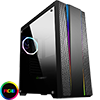 View more info on GameMax Demolition RGB Mid-Tower Gaming Case With Rainbow Strip and Rear Fan Sync Hub Glass Side Panel...