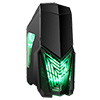 View more info on Game Max Destroyer Gaming PC Case with 3 x 12cm 15 Green LED fans & 1 x 12cm 4 LED Rear...