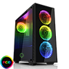 View more info on Game Max Draco Mid-Tower Black RGB 4 x 12cm RGB Fans Tempered Glass Side & Front Panels ...