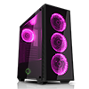 Game Max Draco Black RGB 4 x 12cm RGB Fans Tempered Glass Side & Front Panels  - Alternative image