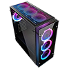 Game Max Eclipse Tempered Glass RGB Gaming Case - Alternative image