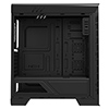 Game Max Elysium Black Gaming Case With 2 x 15 Blue LED Front Fans Side Window - Alternative image