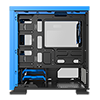 GameMax Expedition Blue Gaming Matx PC Case Rear LED Fan & Full Side Window - Alternative image