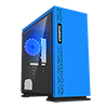 View more info on GameMax Expedition Blue Gaming Matx PC Case Rear LED Fan & Full Side Window...