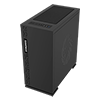 Game Max Expedition Black Gaming Matx PC Case Rear LED Fan & Full Side Window - Alternative image