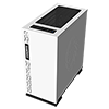 Game Max Expedition White Gaming Matx PC Case Rear LED Fan & Full Side Window - Alternative image
