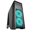 Game Max Falcon Black Mid-Tower PC Gaming Case with 2 x RGB Front Fans & Remote Control - Alternative image
