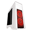 Game Max Falcon White PC Gaming Case with 2 x RGB Front Fans & Remote Control - Alternative image