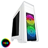 View more info on Game Max Falcon White PC Gaming Case with 2 x RGB Front Fans & Remote Control...