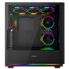 Game Max Gravity ARGB Sync Gaming Case 2xLED Strips 3xFans 3pin Hub TG Window - Alternative image