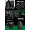 GameMax Gravity ARGB Sync Gaming Case 2xLED Strips 3xFans 3pin Hub TG Window - Alternative image