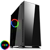 GameMax Hush Silent Mid-Tower Gaming Case With Tempered Glass Side Window 1 x RGB Rear Fan - Alternative image