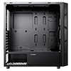 GameMax Kage Midi Tempered Glass inc Spectrum RGB Hub 3 Pin AURA No Fans - Alternative image