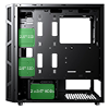 Game Max Kage Midi Tempered Glass inc Spectrum RGB Hub 3 Pin AURA No Fans - Alternative image