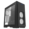 Game Max Kallis Black Gaming Case 2x RGB LED Front 1x Rear Fan & Strip & Window - Alternative image