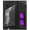 Game Max Kallis Black Gaming Case 2x RGB LED Front 1x Rear Fan & Strip & Window - Alternative image