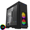 View more info on Game Max Kallis Black Gaming Case 2x RGB LED Front 1x Rear Fan & Strip & Window...