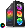 Game Max Moonstone RGB Full Tower 4x12cm RGB Fans 2x Side 1x Front Glass Panels  - Alternative image