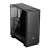 GameMax Muted Silent Mid-Tower Gaming Case With Full Acrylic Side Window - Alternative image