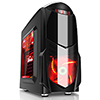 View more info on Game Max Nero Black MATX Case with Front 12cm Red LED Fan USB3 and Side Window...