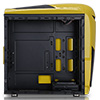 Game Max Nero Yellow MATX Case with Front 12cm Blue LED Fan USB3 and Side Window - Alternative image