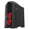 Game Max Nexus Black Gaming Case 2x RGB Led Front Fans & 1x RGB Rear Side Window - Alternative image