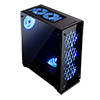 Game Max Onyx RGB Mid-Tower ATX 3 x RGB Fans Tempered Glass Sides & Front - Alternative image