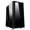Game Max Osmium Mid-Tower Gaming Case With 4x12cm Spectrum Dual-Ring Fans 1 x RGB Strip Front and Tempered Glass - Alternative image
