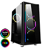 View more info on GameMax Osmium Mid-Tower Gaming Case With 4x12cm Spectrum Dual-Ring Fans 1 x RGB Strip Front and Tempered Glass...