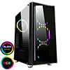 View more info on Game Max Osmium Mid-Tower Gaming Case With 4x12cm Spectrum Dual-Ring Fans 1 x RGB Strip Front and Tempered Glass...