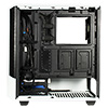 GameMax Panda White ARGB Gaming Case 3x ARGB Strips 1x ARGB fan 1x ARGB Hub - Alternative image